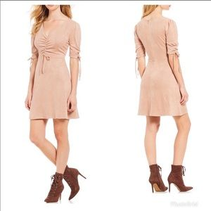 sugar + lips faux suede dress